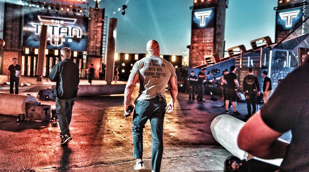 Dwayne Johnson Posts Image of the Titan Games Arena